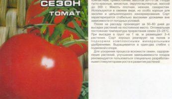 Томат Бархатный сезон