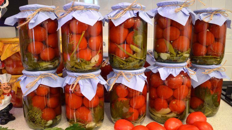 Сладкие маринованные помидоры на зиму