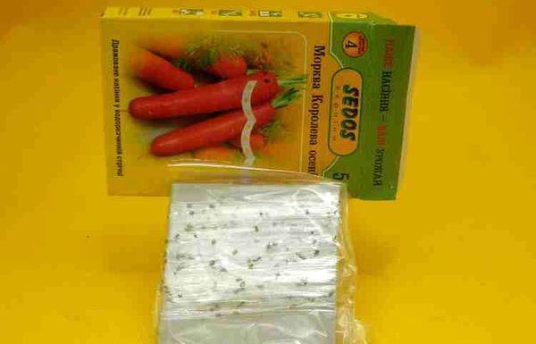 Семена моркови на водорастворимой ленте