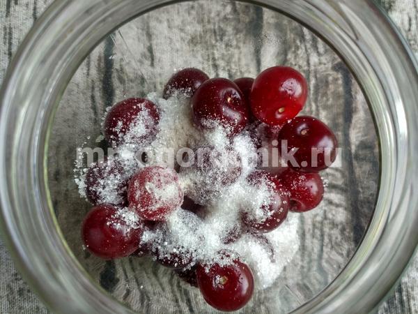 норма сахара на вишневый компот