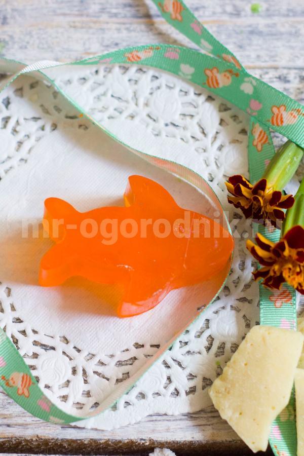 Детское мыло в форме рыбки своими руками